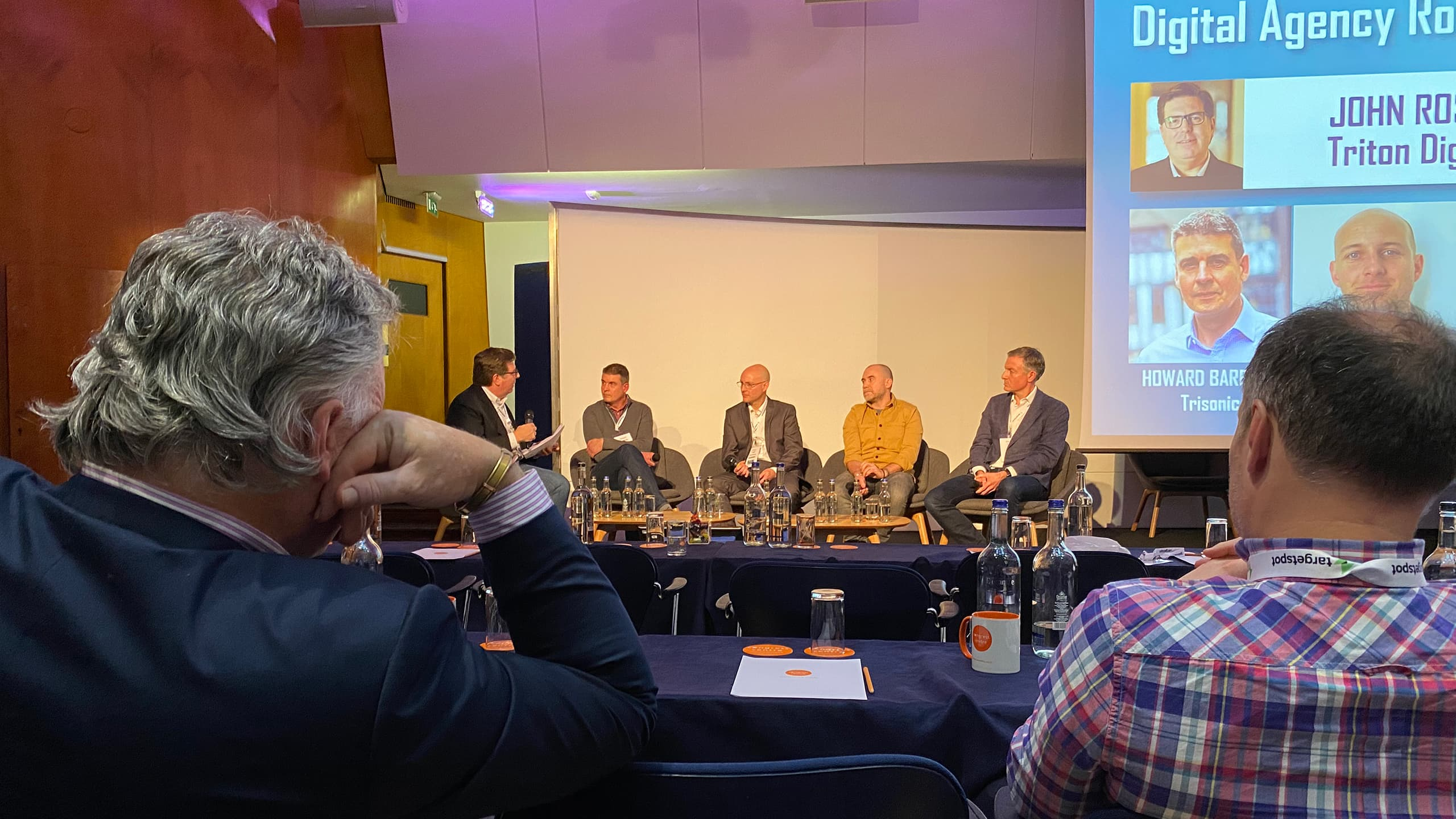 Trisonic's Howard Bareham discussing audio media at RAIN conference in London